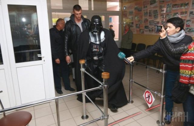 Ukrajnai szavazóhelyiség