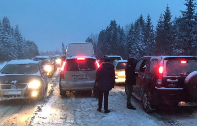 Ukrajna Kárpátok hó lavina Kárpátalja hágó
