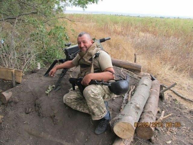 Tüzelő állás Donyeck, Donbász