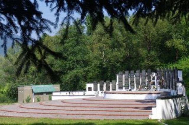 Ukrajna Kárpátalja Szolyva Szolyvai Emlékpark vandalizmus