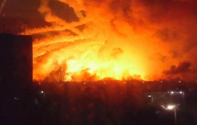 Ukrajna HArkiv lőszerraktár drón dróntámadás tűz