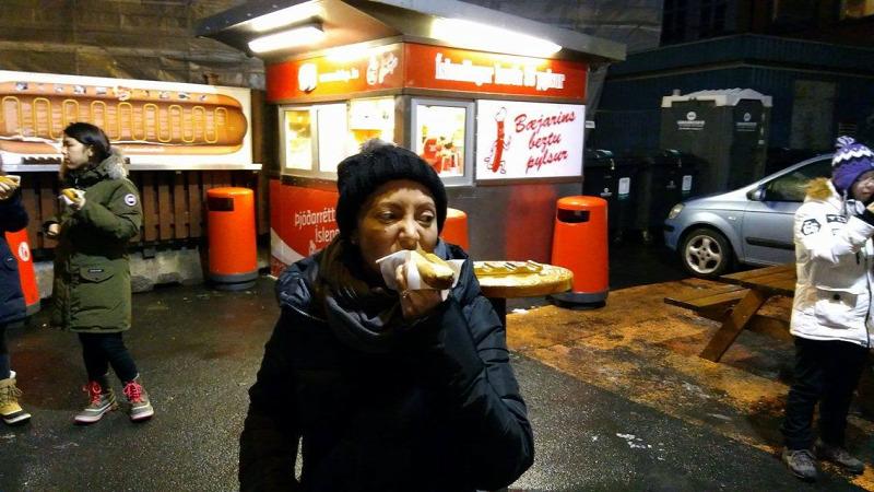 Izland vagyon bio kioszk bisztró hot dog leves ázsiai vendégposzt