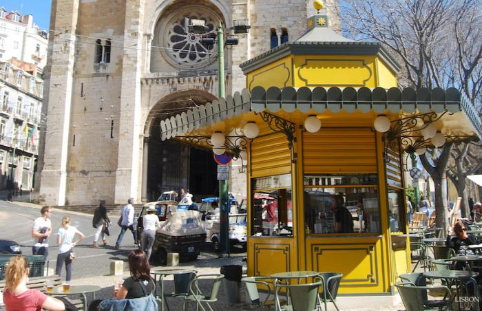 kávé kioszk limonádé külföld Lisszabon wifi