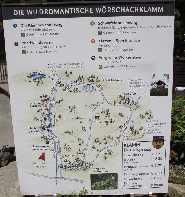 Ausztria Stájerország szurdok Wörschachklamm Schladming