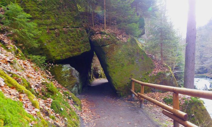 Csehország Hrensko szurdok Cseh-Svájc
