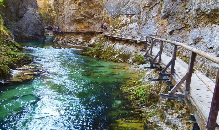 Szlovénia Bled Vintgar szurdok szurdok