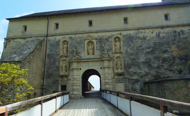 Ausztria Burgenland várak Fraknó Esterházy