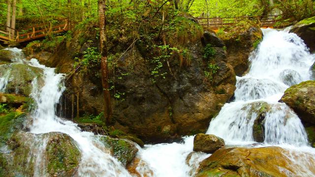 Ausztria Alsó-Ausztria szurdok vízesések Muggendorf Myrafälle