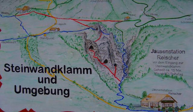 Ausztria Alsó-Ausztria Muggendorf szurdok Steinwandklamm
