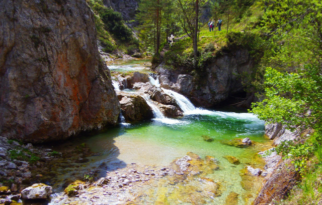 Ausztria Mariazell Wienerbruck szurdok Alsó-Ausztria Ötschergräben