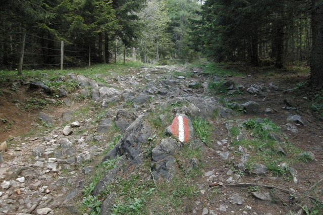 Ausztria Stájerország Mixnitz hegy Medveszurdok csúcskereszt