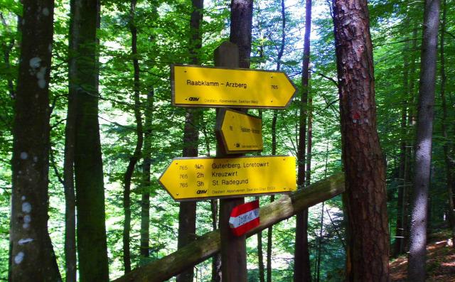 Ausztria Stájerország szurdok Rába Raabklamm túraút