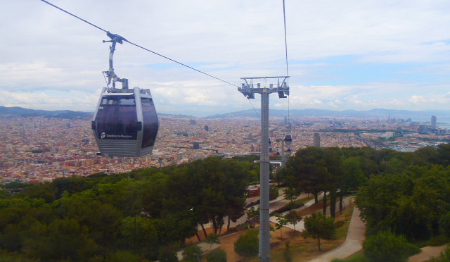 Spanyolország Barcelona kis-kabinos felvonó