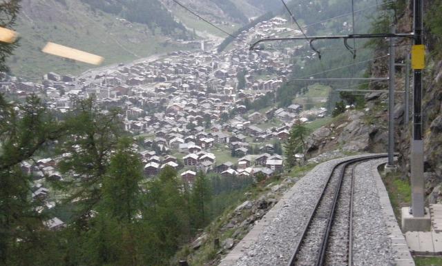 Svájc fogaskerekű vasút vasút Zermatt Gornergrat Gornergratbahn