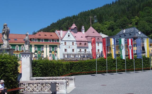 Ausztria Stájerország város Mariazell