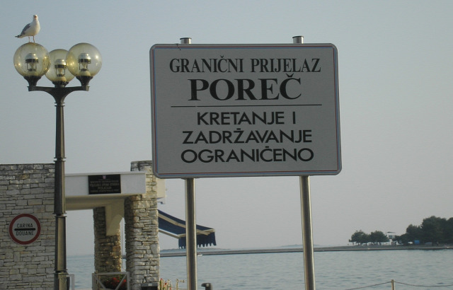 Horvátország Isztria város Porec