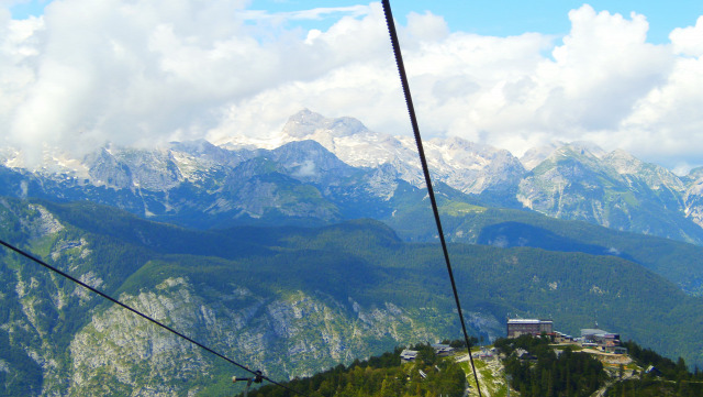 Szlovénia Vogel Bohinj Bohinji tó hegy nagy-kabinos felvonó