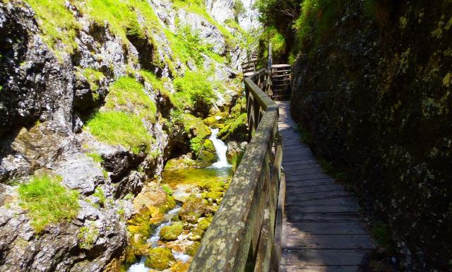 Ausztria Stájerország szurdok vízesések Palfau Wasserlochklamm