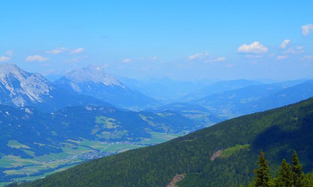 Ausztria Stájerország hegy csúcskereszt Schladming Planai