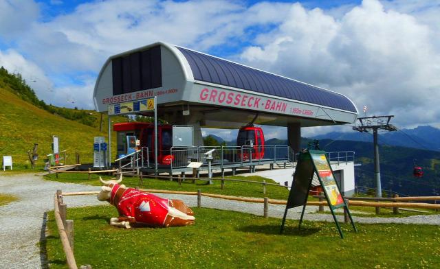 Ausztria Salzburg tartomány hegy kis-kabinos felvonó Mauterndorf Grosseckbahn