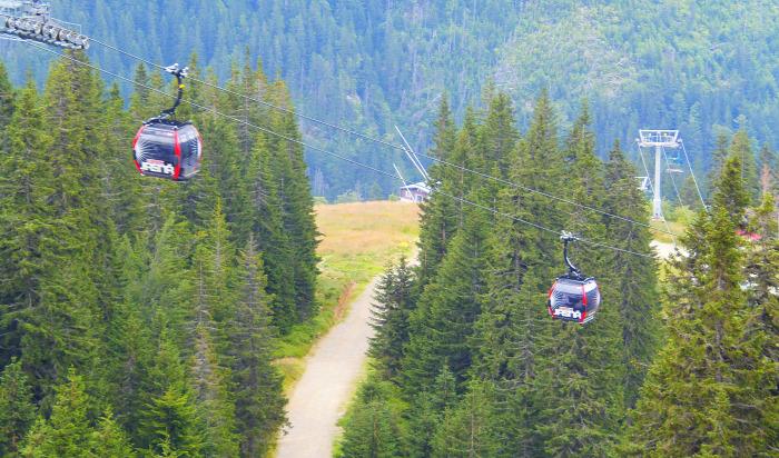Szlovákia kis-kabinos felvonó Jasná Chopok Tátra Alacsony-Tátra