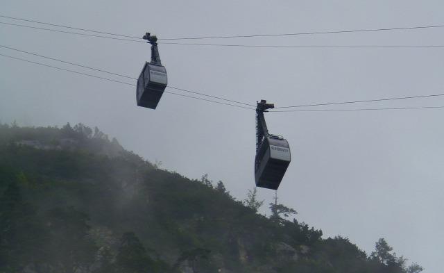 Ausztria Salzburg tartomány Werfen nagy-kabinos felvonó Eisriesenwelt
