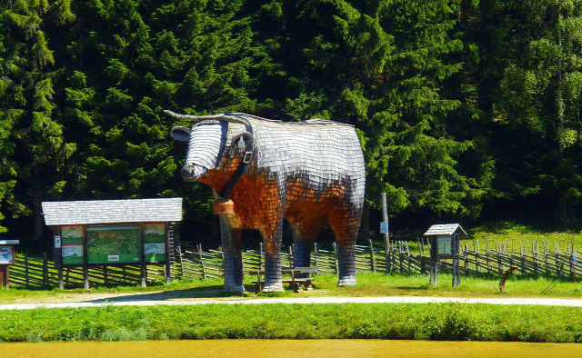 Ausztria Stájerország hegy csúcskereszt Medveszurdok Teichalm túraút