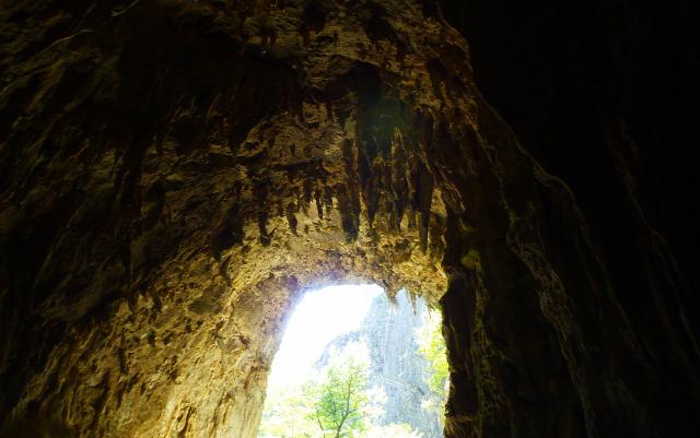 Szlovénia barlang Skocjan szurdok vízesések cseppkőbarlang