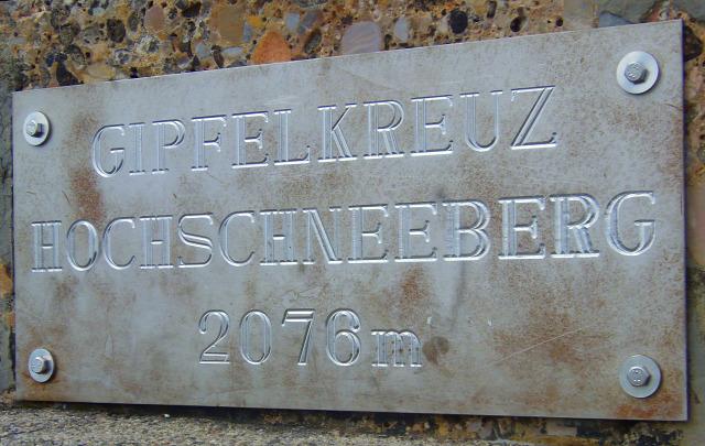 Ausztria Alsó-Ausztria Schneeberg Puchberg hegy csúcskereszt