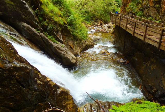 Ausztria Stájerország Murau vízesések Günstner vízesés