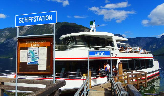 Ausztria Hallstatt Hallstatti tó város Felső-Ausztria