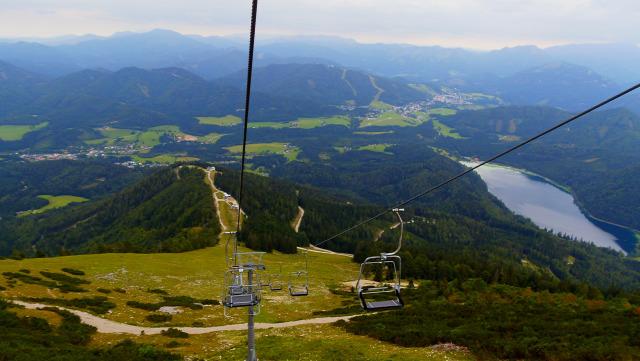 Ausztria libegő hegy Mariazell Alsó-Ausztria Mitterbach