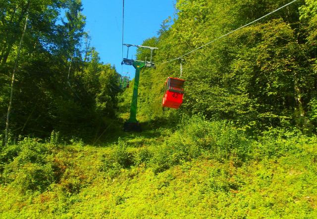 Ausztria Felső-Ausztria hegy Bad Ischl Katrinberg Salzkammergut kis-kabinos felvonó