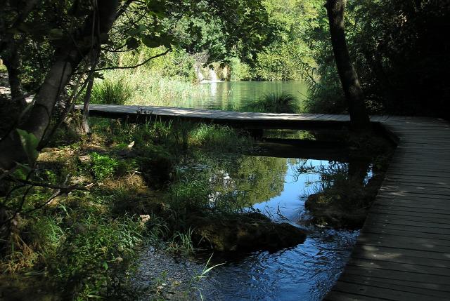 Horvátország Dalmácia Krka vízesések vízsprint