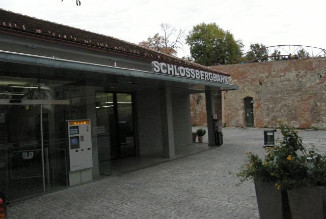 Ausztria Stájerország Graz sikló Schlossbergbahn