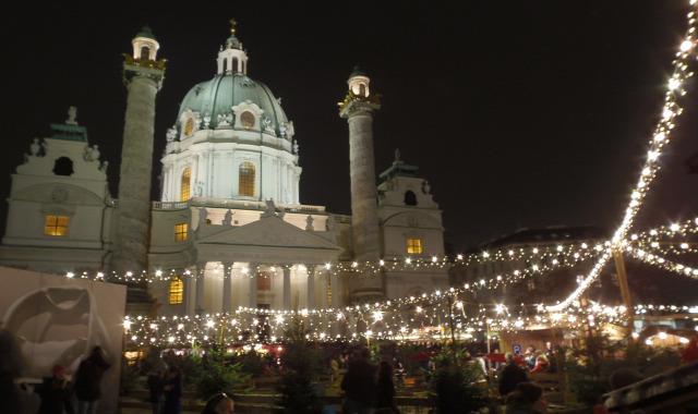 Ausztria Bécs adventi vásár Karlsplatz