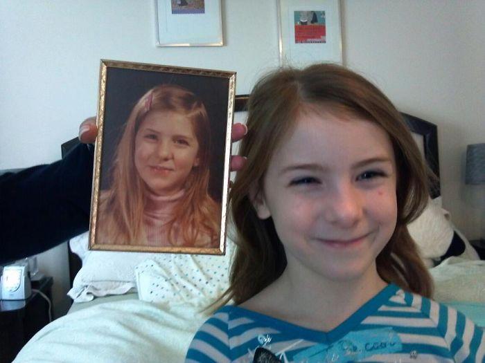 fotók fénykép egyofrmák egyforma apa-fia egyforma anya-lánya hasonlóság öröklődés