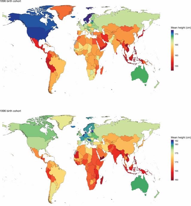 magasság férfi-nő legmagasabb nemzetek