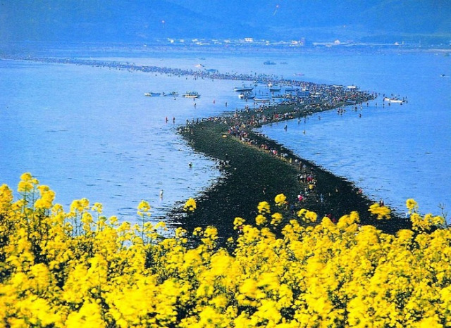 szétnyíló tenger  Dél-Korea Kalachi vándorló kövek namíbiai tündérkörök