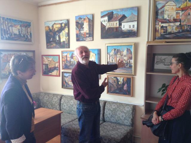 Kurucz András Ungvár kiállítás festmények megyei könyvtár