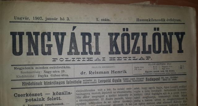 Kárpátalja Ungvár Ungvári Közlöny ungvári hírek