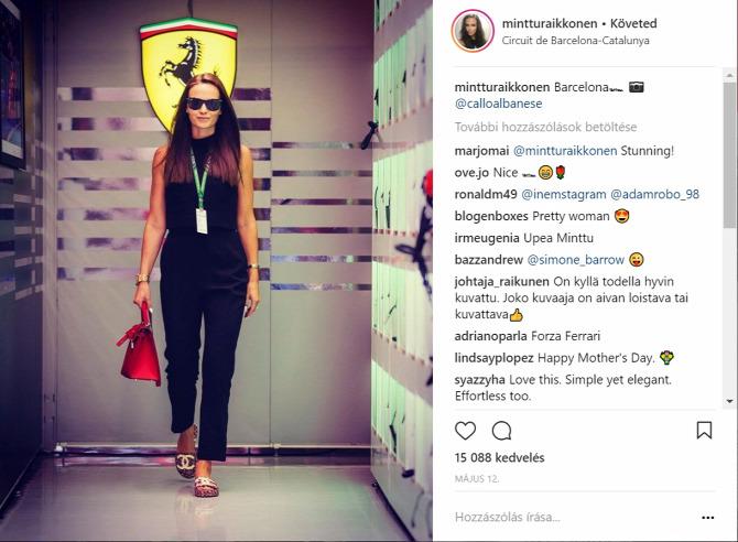 Minttu Räikkönen  Chanel papucs luxus