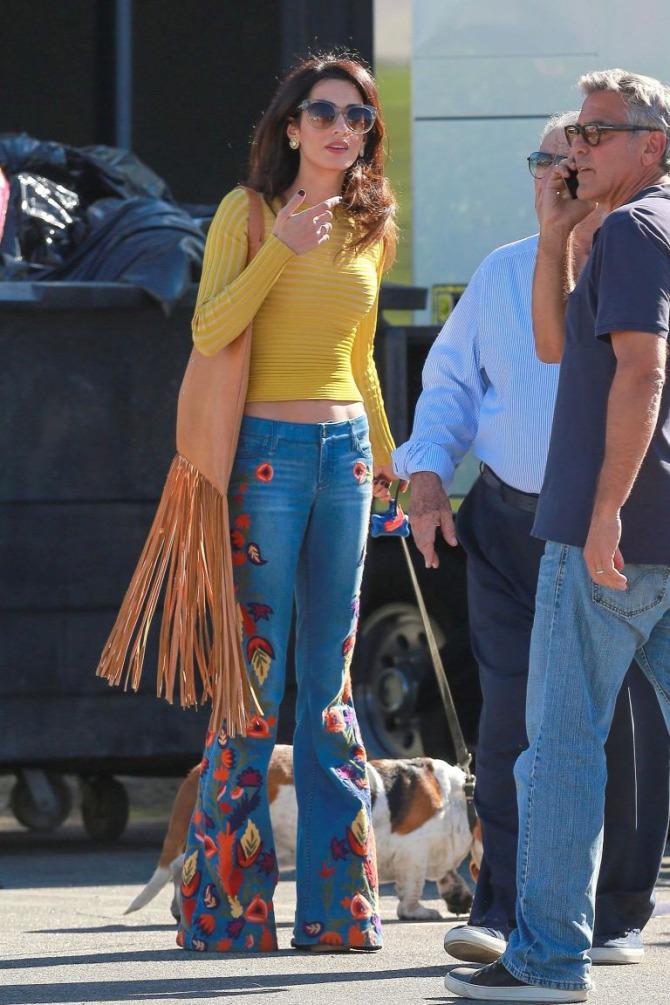 Amal Clooney George Clooney hippi Alice+Olivia