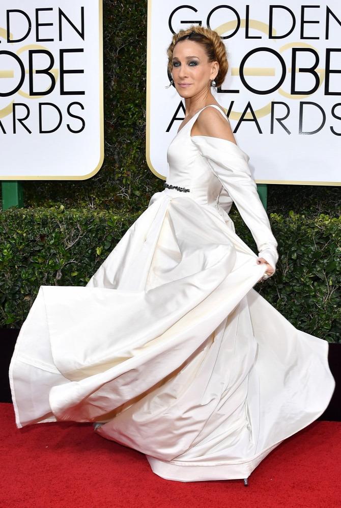 Sarah Jessica Parker Carrie Bradshaw Vera Wang Szex és New York Golden Globe
