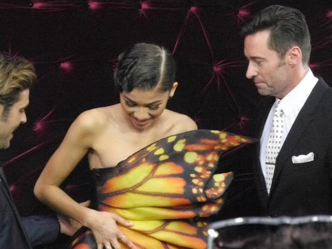 Zendaya Hugh Jackman Zac Efron filmpremier Moschino