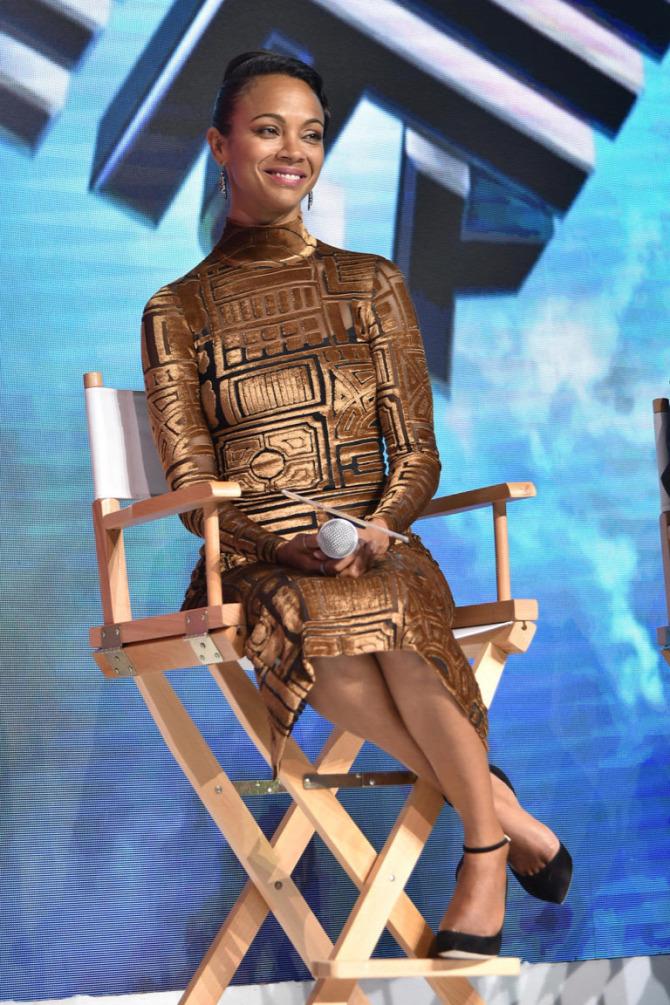 Zoe Saldana Star Trek technika divat