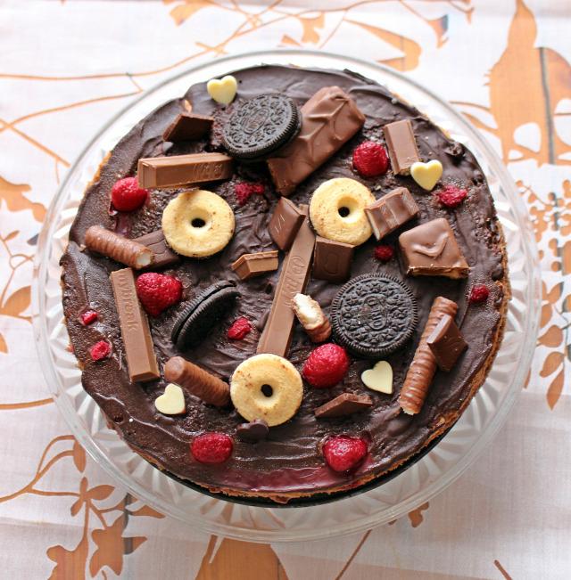 torta étcsokoládé málna édességek ballagás mascarpone nutella