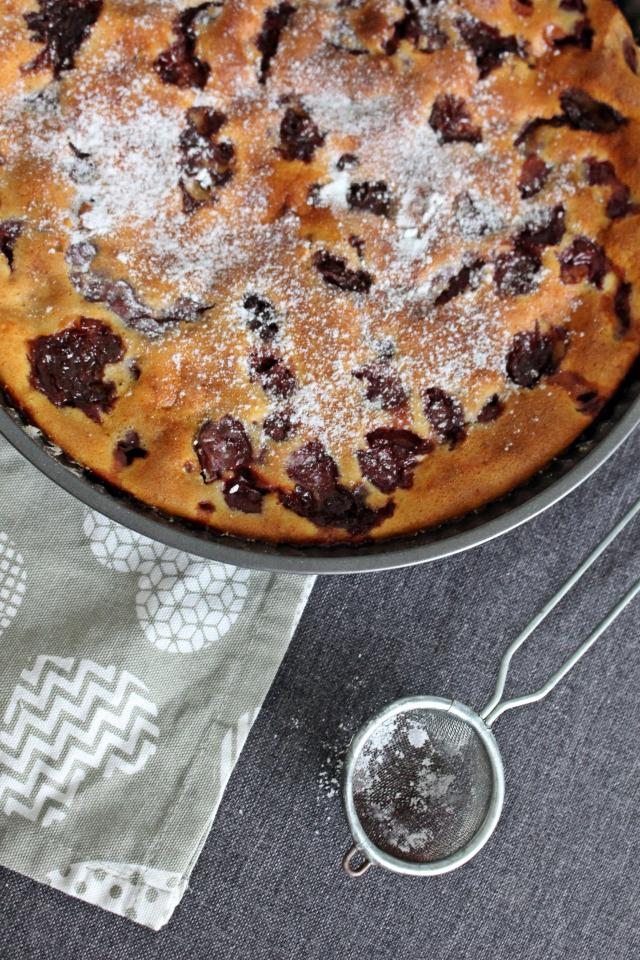 cseresznye clafoutis édességek pite tejpite tej tojás tejszín liszt cukor lekvár cseresznye lekvár fahéj