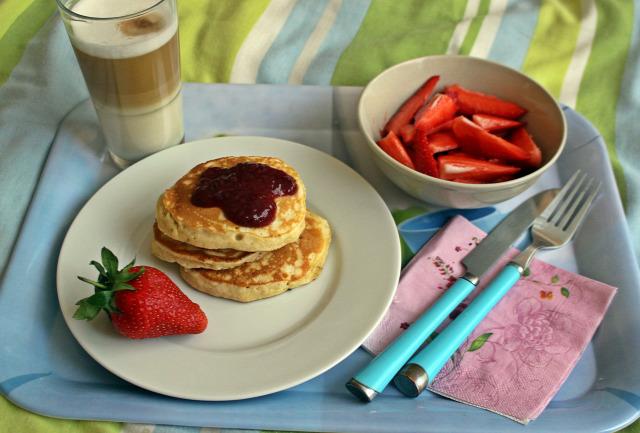 liszt sütőpor banán cukor tej só tojás olaj vaj ráérős reggelik palacsinta amerikai palacsinta