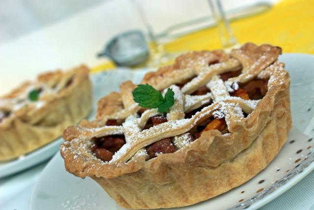 pite édességek őszibarack barack vaníliás cukor menta